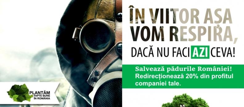 Direcționează 2% din impozitul tău pe venit pentru salvarea pădurilor!