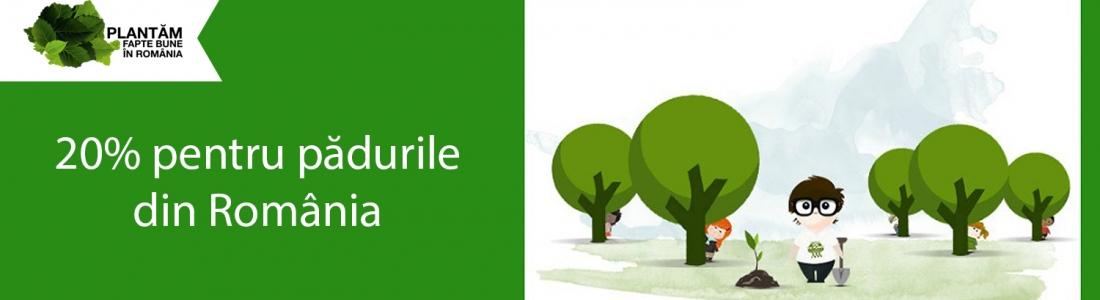 Donează 20% din impozitul pe profit pentru pădurile din România!